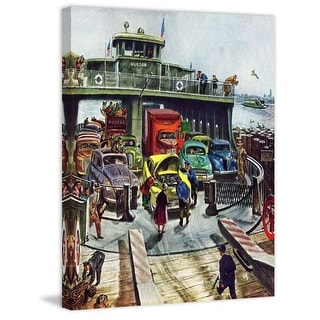 Marmont Hill Hudson Ferry Thornton Utz Painting Print on Canvas