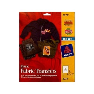 Avery Fabric Transfer Dark 5pc