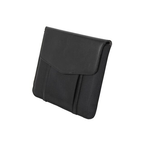 iPad 9.7 Leather Cover Sleeve with Pocket for Cables and Accessories - Magnet Cl