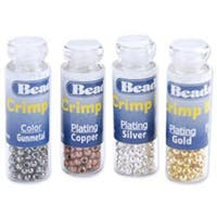 Silver-; Gold-; Copper- & Black-Plated - Crimp Beads Variety Pack Size 1 600/Pkg