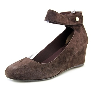 J. Renee Melenne N/S Open Toe Suede Wedge Heel