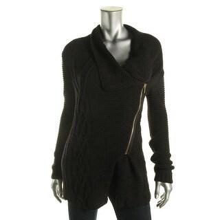 Rachel Rachel Roy Womens Zipper 3/4 Sleeves Sweatercoat - M