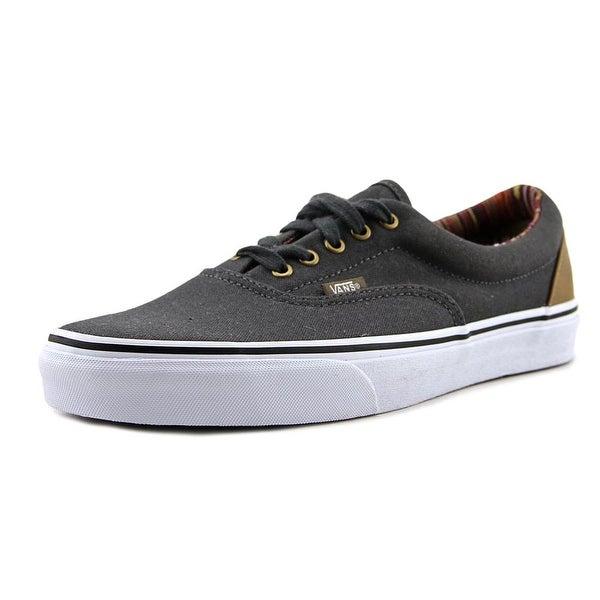 Shop Vans Era Men Round Toe Canvas Gray Sneakers - Free Shipping ... 5bea67738