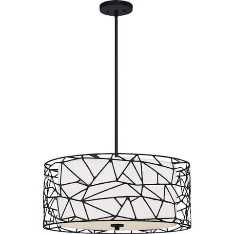 Quoizel Oversized Matte Black 4-light Pendant