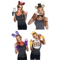 Five Nights at Freddy's Adult Costume Kit Bundle: Freddy, Foxy, Chica, Bonnie - Multi
