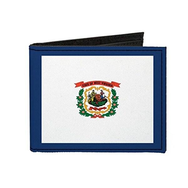 Buckle-Down Canvas Bi-fold Wallet - West Virginia Flag Accessory