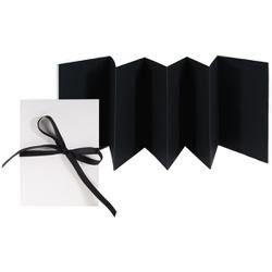 """Accordion Album; Black 5.25""""X7.25"""" - Books By Hand Designed By Me Blank Cover Bookbinding Kit"""