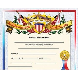 (6 Pk) Social Studies Achievement Inkjet Laser 8.5X11 30 Per Pk