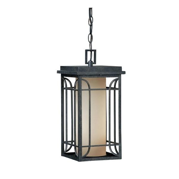 "Vaxcel Lighting NP-ODD080 Newport 1-Light 16.625"" Outdoor Pendant - Gold Stone - N/A"