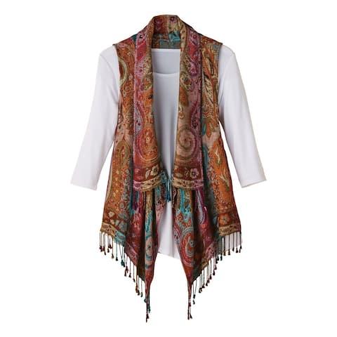 Women's Lisbon Reversible Fringed Vest