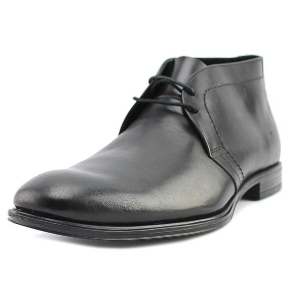 Franklin & Freeman Hall Men Round Toe Leather Black Chukka Boot