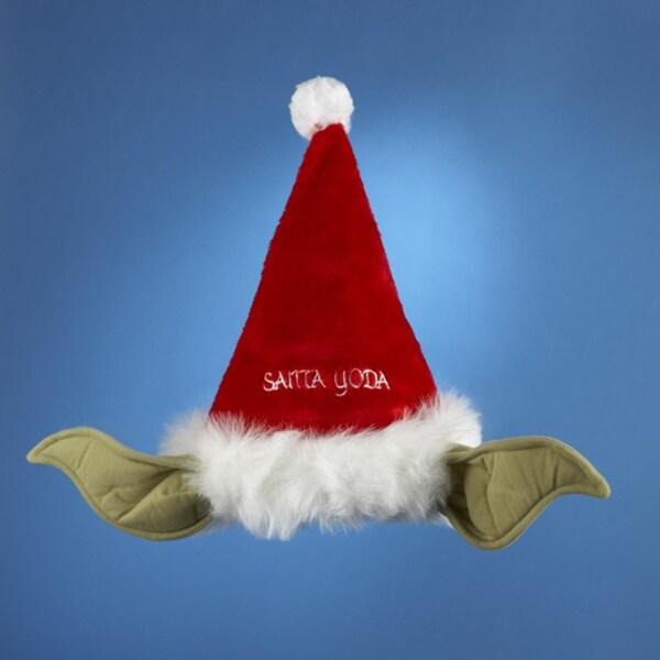 """17"""" Star Wars """"Santa Yoda"""" Red Santa Claus Christmas Hat - Adult Small"""