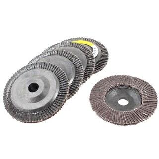 Unique Bargains 16mm x 102mm 80# Fan Type Abrasive Flap Sanding Discs Polishing Wheels 5pcs