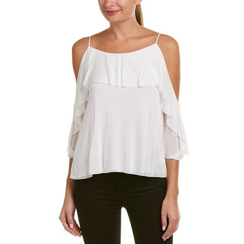 Bailey 44 White Cold Shoulder Layered Top