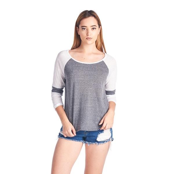 Women's Juniors Scoop Neck Long Sleeve Shirt Ultralight Gym Workout Sweatshirt