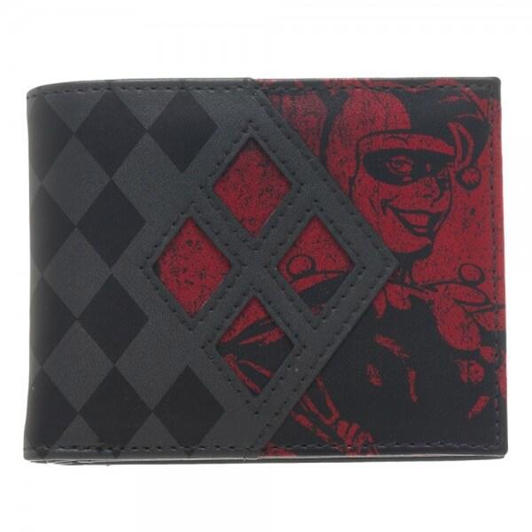 DC Comics Harley Quinn Bi-Fold Wallet - Multi