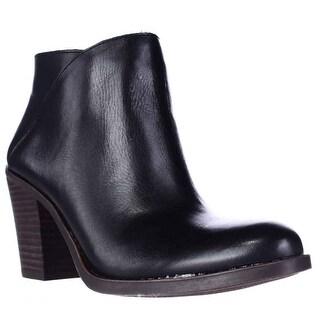 Lucky Brand Eesa Block Heel Pull On Ankle Booties - Black