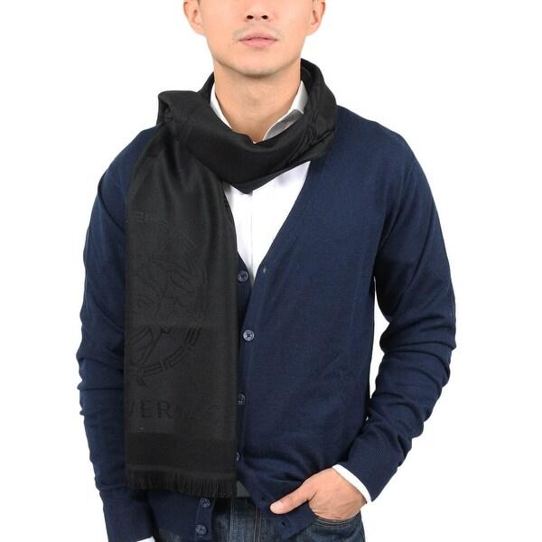 Versace IT00625 NERO Black 100% Wool Mens Scarf - 14-72