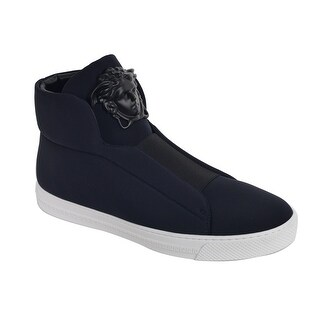 Versace Mens Black Palazzo Medusa Head High Top Sneakers