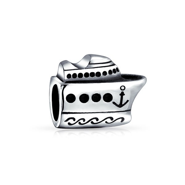 Bling Jewelry Nautical Cruise Ship Bead Charm .925 sterling Silver