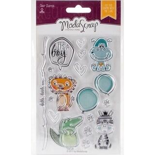 Color Of Puppies-Boy - Elizabeth Craft ModaScrap Clear Stamps