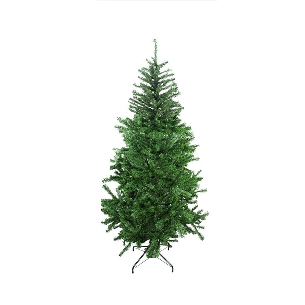 6.5' Two-Tone Balsam Fir Artificial Christmas Tree - Unlit - green