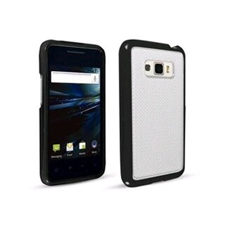 Technocel Hybrigel w/ Wave Pattern Case for LG LS696 Optimus Elite - Black/Clear