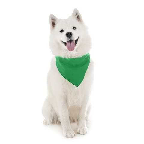 2 Pack Qraftsy Dog Cotton Bandana Scarf Triangle Bibs for Any Size Puppies, Dogs and Cats - One Size Fits Most