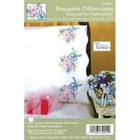 "Bouquets - Stamped Pillowcase Pair For Embroidery 20""X30"""