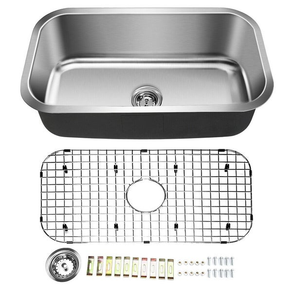 31'' Stainless Steel Single Bowl Kitchen Sink Basin