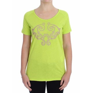 Versace Jeans Versace Jeans Yellow Crew-neck Studded T-shirt - it42-s