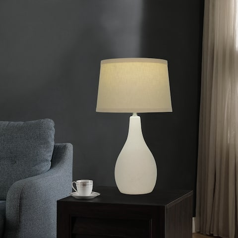 """19"""" Tear Drop Textured Ceramic Table Lamp with LED Bulb Included"""