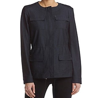 Tommy Hilfiger NEW Chambray Blue Women's Size 12 Full-Zip Jacket