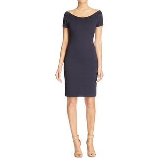 MICHAEL Michael Kors Womens Cocktail Dress Textured Criss-Cross Back