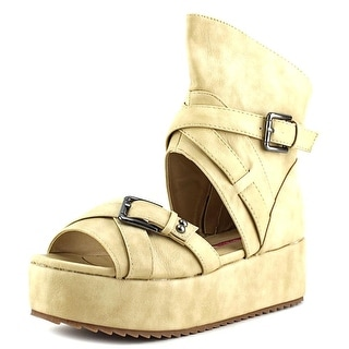 C Label Coco-11 Open Toe Synthetic Wedge Sandal