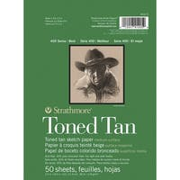 Strathmore 400 Series Toned Tan Pad, 5-1/2 x 8-1/2 in, 50 Sheets
