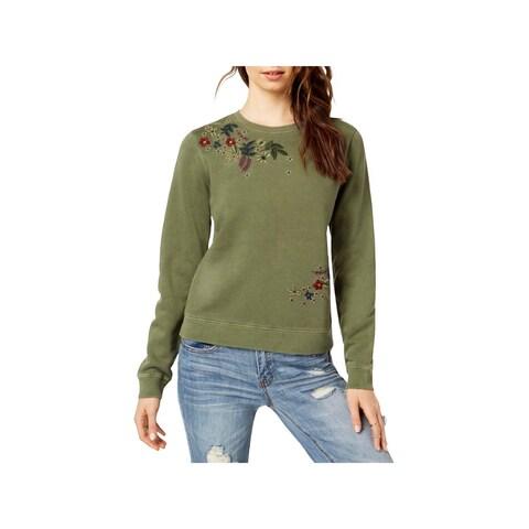 Lucky Brand Womens Sweatshirt Cotton Embroidered - XL
