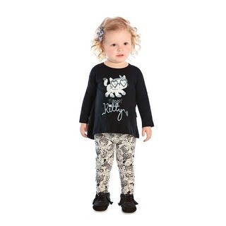 Baby Girl Outfit Long Sleeve Shirt and Leggings Set Pulla Bulla 3-9 Months