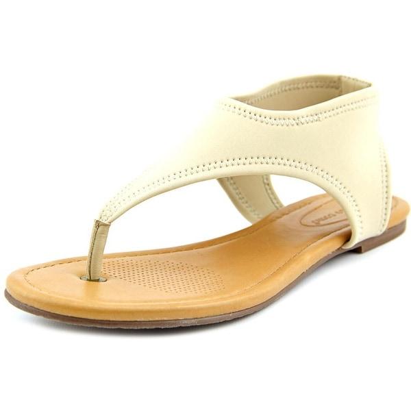 Corso Como Volti Women Open Toe Canvas Nude Thong Sandal