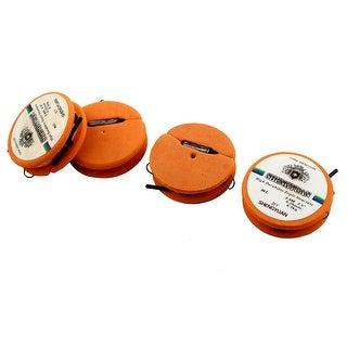 Unique Bargains 2.5# Dual Fish Hook Fishing Line Foam Spool 6.3Kg 0.25mm 3.6M Length Orange 4pcs