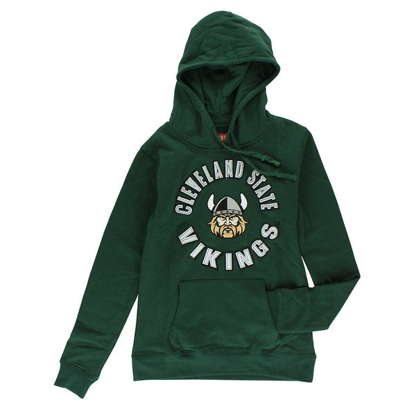 reputable site 26de8 57d19 Cover One Womens Cleveland State Vikings Full Zip Hoodie Green - S