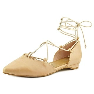 Mia Mirna Women Pointed Toe Leather Flats