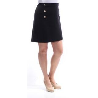 Womens Black Mini A-Line Skirt Size 12