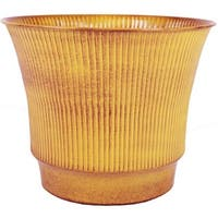 Robert Allen MPT01841 Madison 8 in. Topaz Yellow Metal Planter