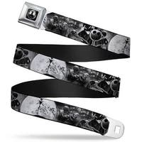 Jack Moon Oogie Boogie Face Full Color Black Grays Jack & Oogie Boogie Seatbelt Belt