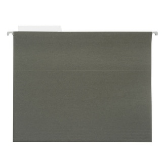 NECI 1/3 Cut Durable Recycled Hanging File Folder, Letter, Standard Green, Pack of 25