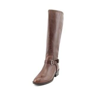 Lauren Ralph Lauren Marion Round Toe Leather Knee High Boot