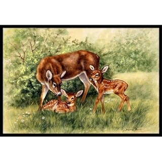 Carolines Treasures BDBA0116JMAT Deer by Daphne Baxter Indoor or Outdoor Mat 24 x 36