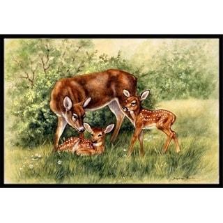 Carolines Treasures BDBA0116MAT Deer by Daphne Baxter Indoor or Outdoor Mat 18 x 27