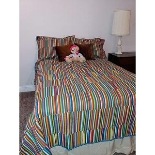 Fiesta Taos Cotton Stripe Quilt Set